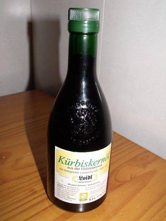 Kürbiskernöl, aceite de pipas de calabaza