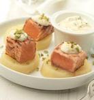 Tacos de patata con salmón al estilo noruego