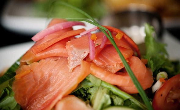 Ensalada templada de salmón