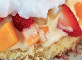 Tartita de frutas con merengue