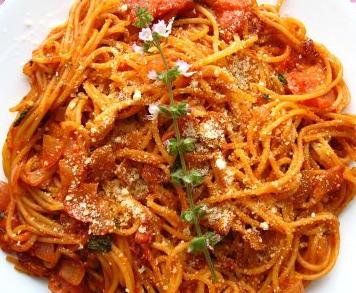 Spaghetti con pescados