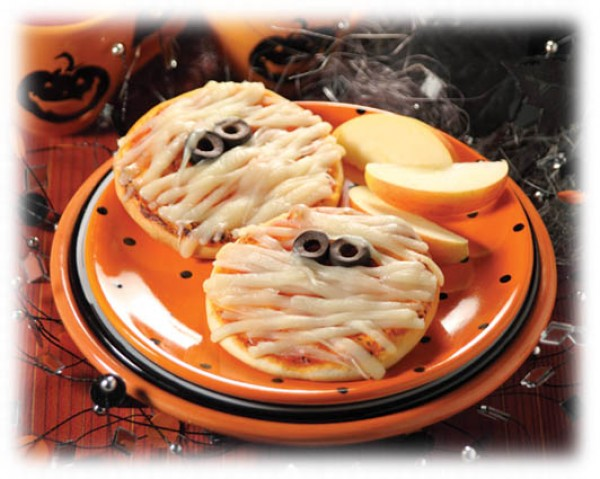 Halloween: Minipizzas Momia