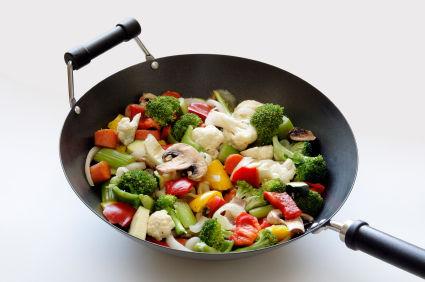 Wok de carne y verduras