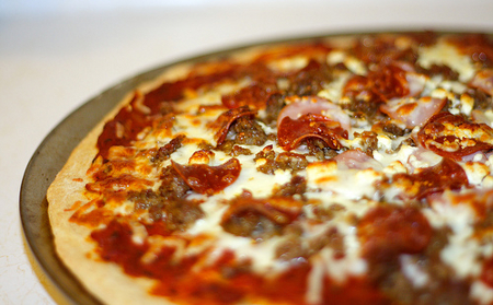Pizza especial de carne