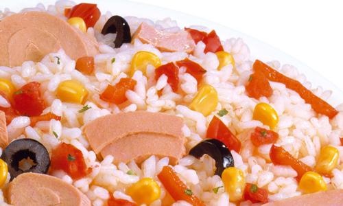 Ensalada de arroz con vinagreta de frambuesa