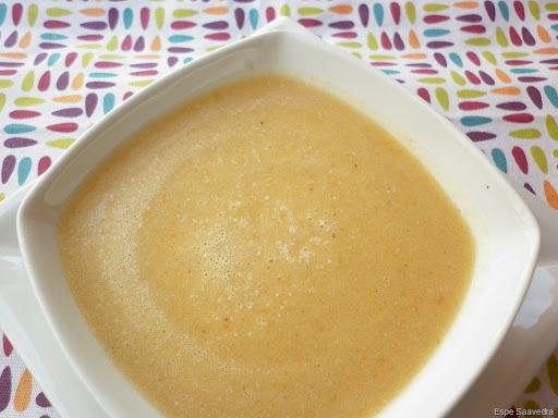 Puré de arroz, patata y zanahoria