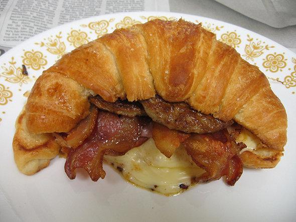 Desayuno especial de Croissant