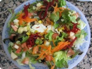Ensalada ligera de manzana y zanahoria