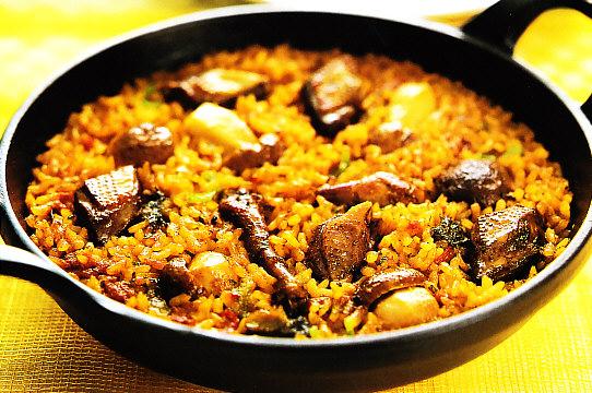 Hígado de pollo con arroz
