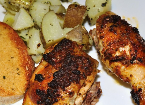 Tostada de pollo con salsa worcestershire