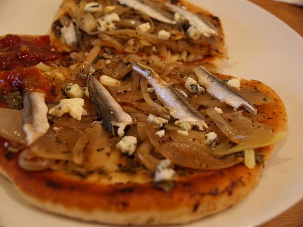 Tostada con anchoa