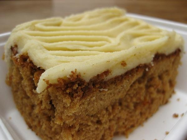 Tarta de zanahoria (sin frutos secos) con crema de queso