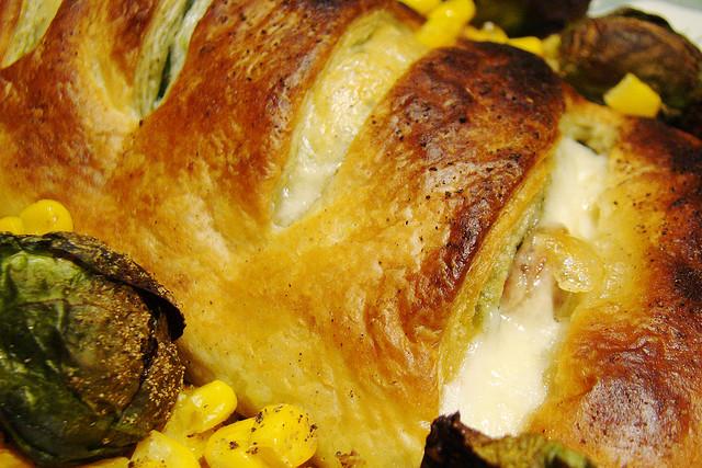 Hojaldre de espinacas y queso feta