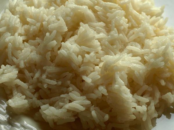 Arroz blanco con leche de coco