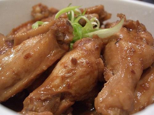 Alitas de pollo teriyaki al vapor