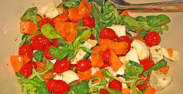 Ensalada de berros y papaya