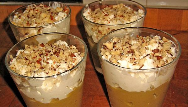 Chupito de crema de calabaza con crema agria