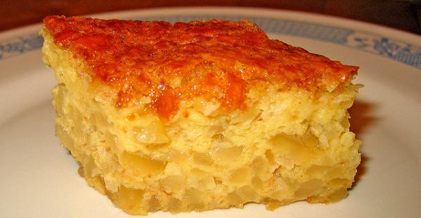 Tortilla de patatas gratinada