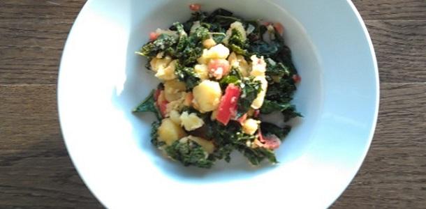Ensalada de espinacas y patata
