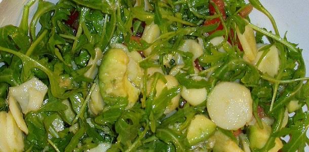Ensalada templada de rúcula y patata
