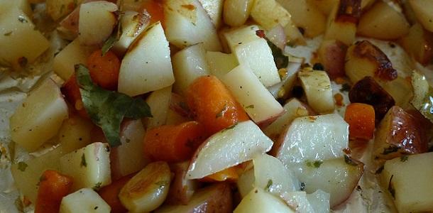 Ensalada de patatas y zanahorias