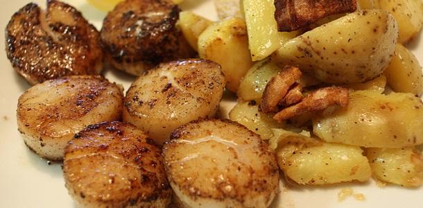 Vieiras con patatas