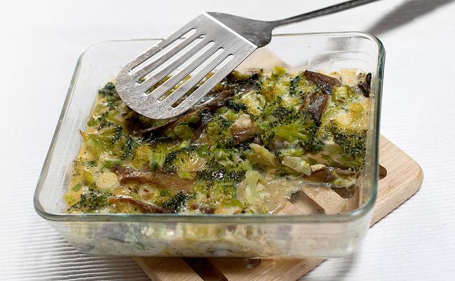 Pastel de setas con verduras