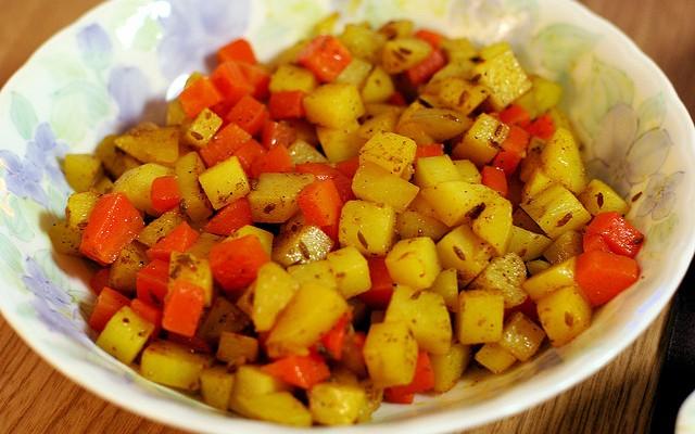 Ensalada de patata y zanahoria